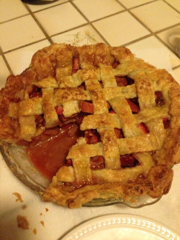 slice of juicy pie