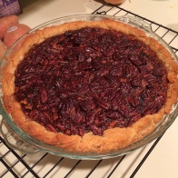 Homemade pie crust from Tartine cookbook, but the Pecan Pie recipe is dated 1953 and was passed down by my great-grandmother.