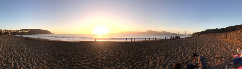 Sunset on Baker Beach